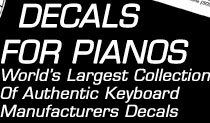 Piano Decals, Varnish Transfer